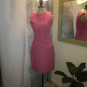 T TAHARI pink twill dress